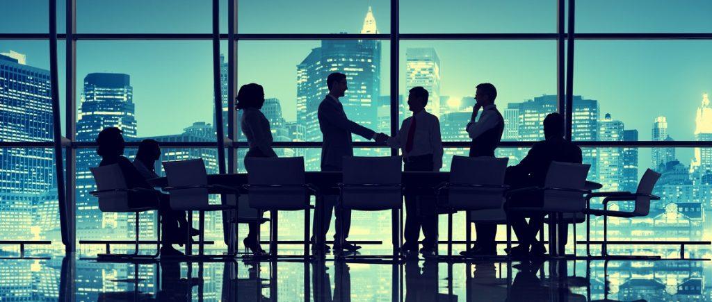 Illustrative: business meeting. Deposit Photos
