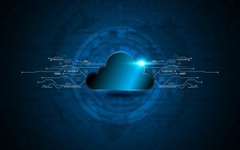 Illustrative photo of cloud technology. Deposit Photos