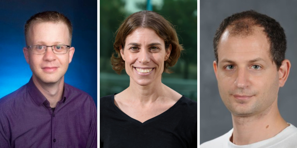 From left to right: Dr. Moran Bercovici. Dr. Michal Rivlin, and Dr. Erez Berg, the winners of the 2019 Blavatnik Awards for Young Scientists in Israel. Courtesy