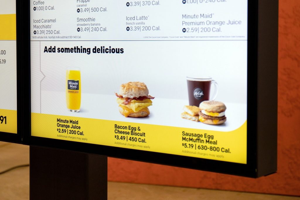 With this technology, customers can have items that pair well with their existing order suggested as additions on the drive-thru digital menu board. Courtesy
