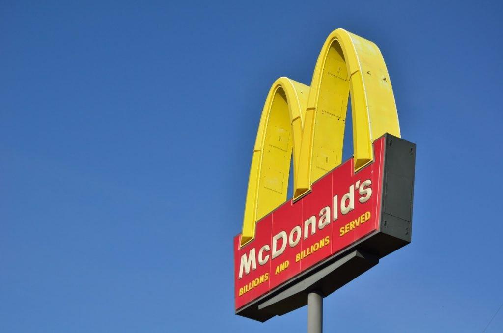 A McDonald's sign. Deposit Photos