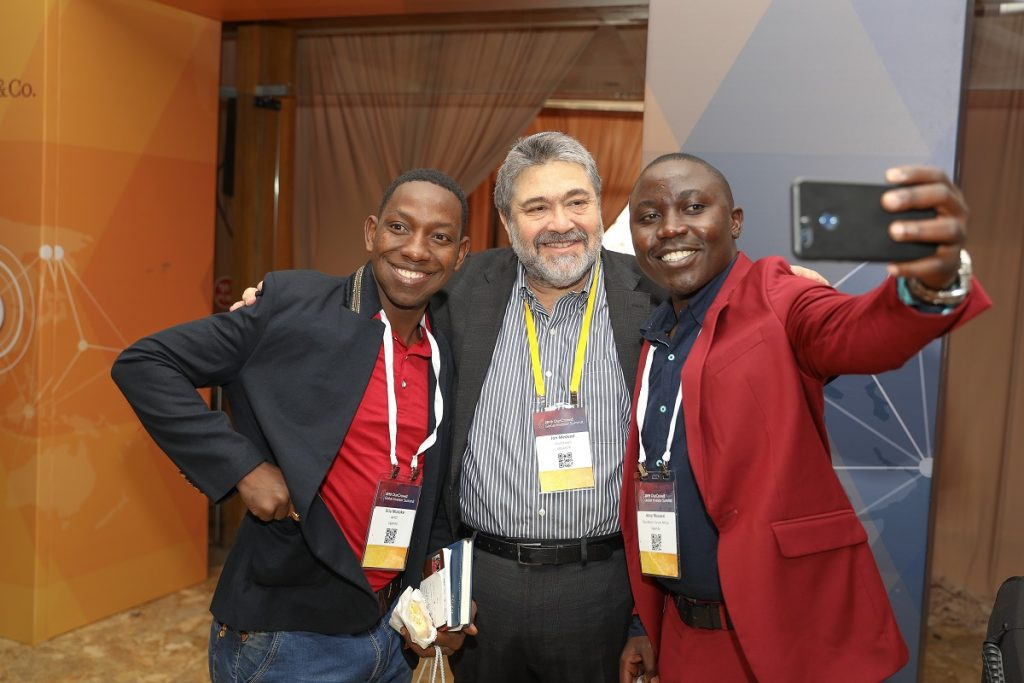 OurCrowd founder Jon Medved, center, with team members. Noam Moskowitz photography