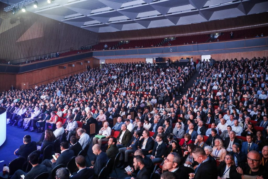 Guests listen at the Jerusalem at the OurCrowd summit March 7, 2019. Noam Moskowitz photography