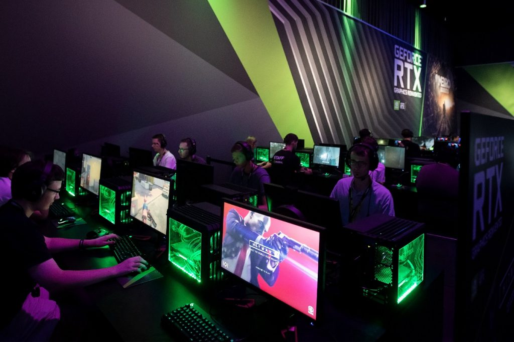 Gamers at CES 2019. Photo by NVIDIA Corporation on Flickr,