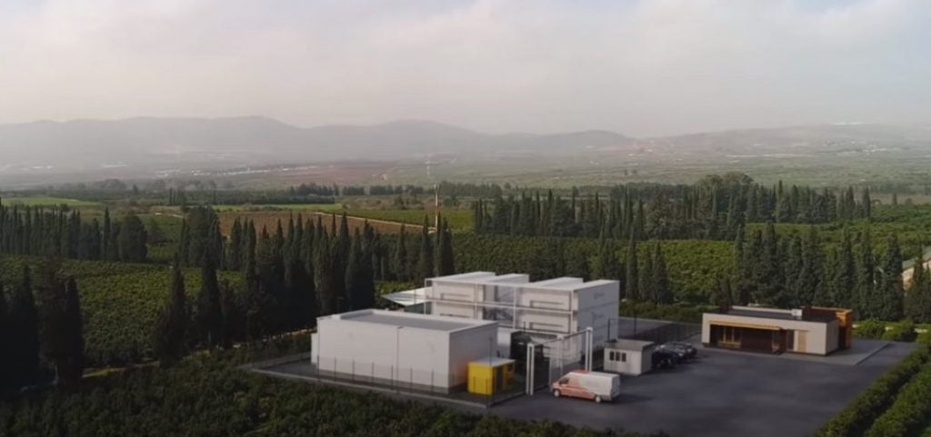 A screenshot from Seedo's promotional video announcing a containerized cannabis farm in northern Israel, March 2019.