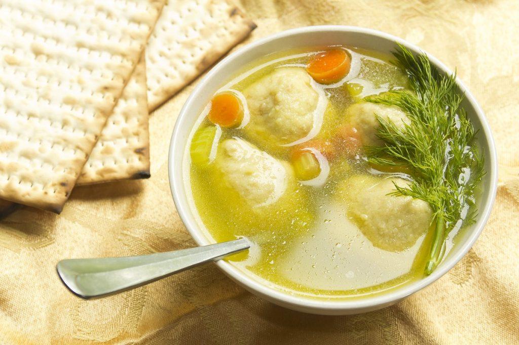 An illustrative photo of matzah ball soup. deposit Photos