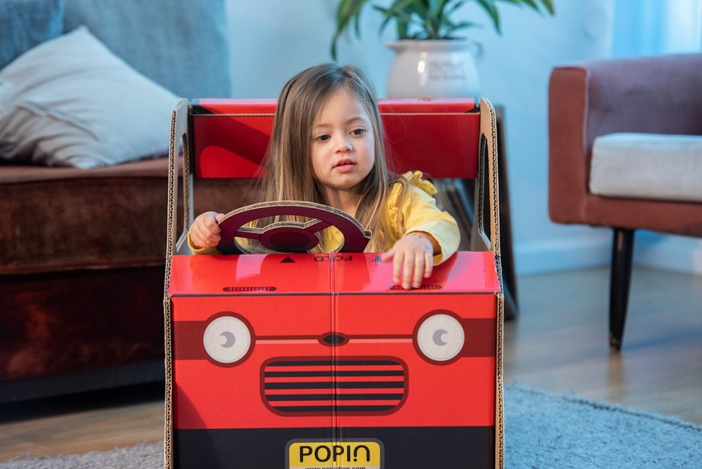 Popin's play car. Courtesy