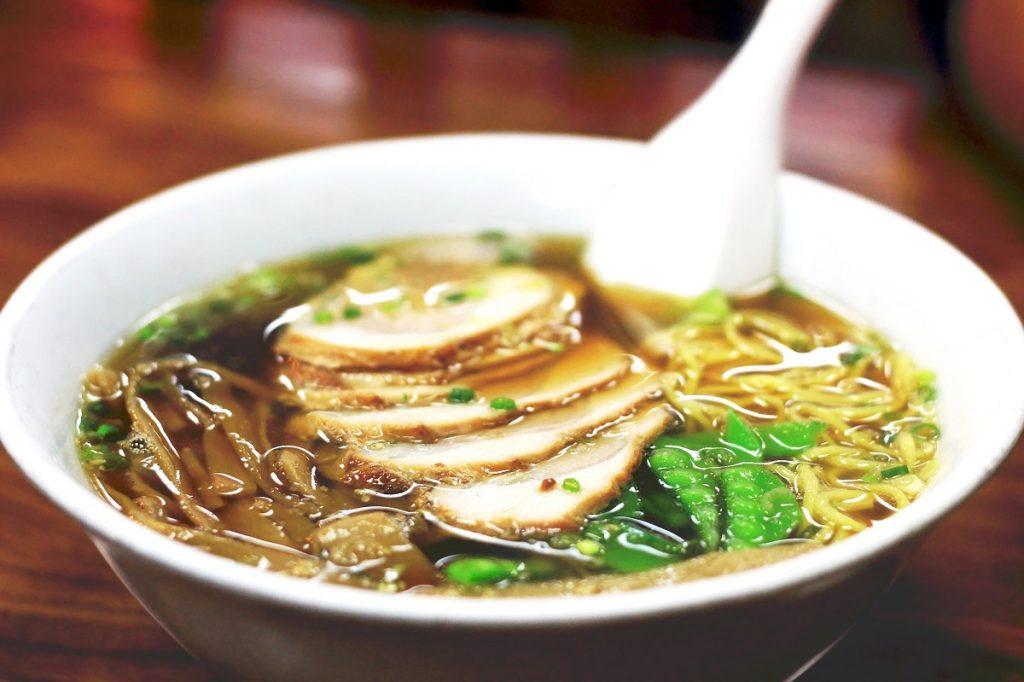 An illustrative photo of Japanese Ramen soup.  Deposit Photos