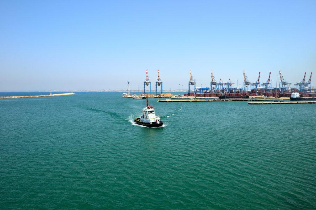 The Haifa port. Deposit Photos
