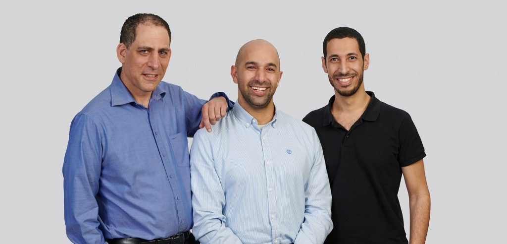 TriEye founders from left to right: Professor Uriel Levy, Avi Bakal. Omer Kapach. Photo by David Garb