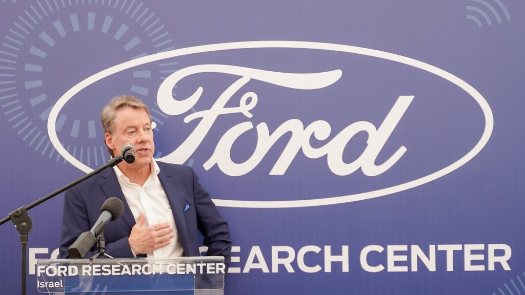 Bill Ford launches the Ford research center in Tel Aviv, June 12, 2019. Photo by Itai Nadav