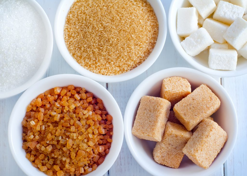 Different kinds of sugars. Deposit Photos