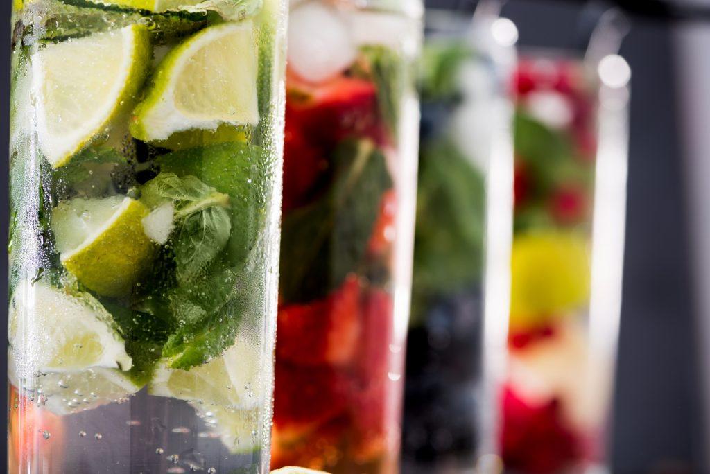 Refreshing drinks. Illustrative. Deposit Photos