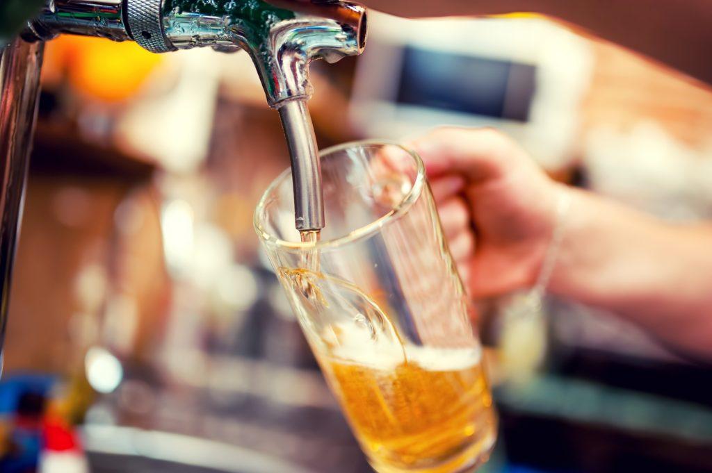 Beer on tap. Deposit Photos