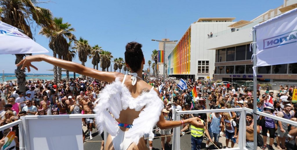 The 2019 annual Pride Parade in Tel Aviv. Photo by Guy Yechiely