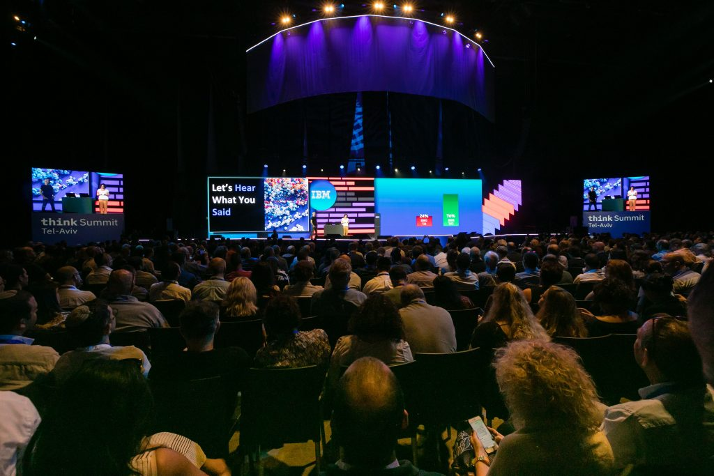The crowd at theIBM Think Summit event in Tel Aviv June 13, 2019. Photo by Shauli Lendner