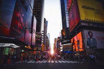 Times Square. Photo via Unsplash