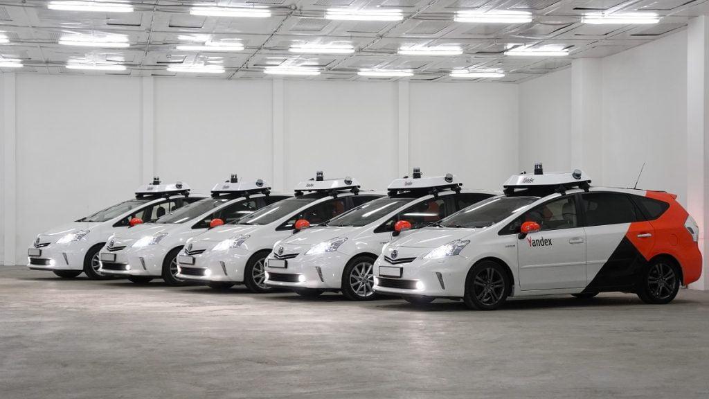 Yandex autonomous vehicles. Photo via Yandex