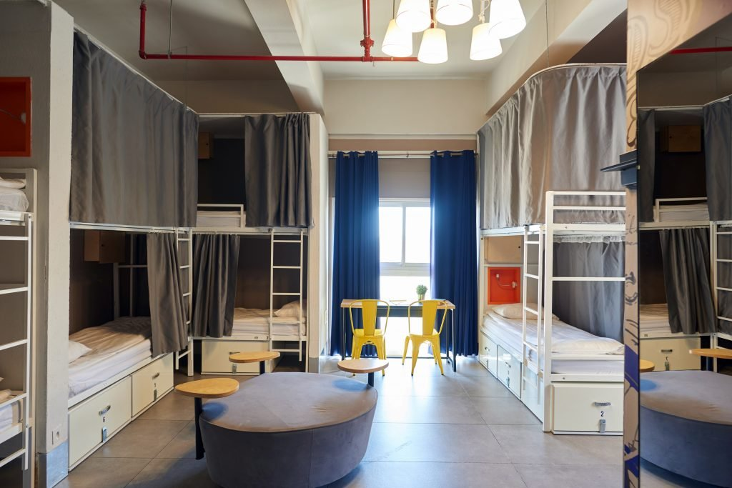 A dorm room at the Post Hostel in Jerusalem. Courtesy