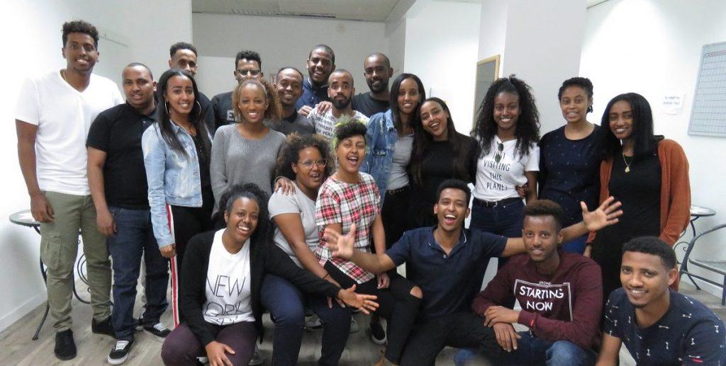 Ethiopian-Israeli students at the Tech-Career center. Courtesy
