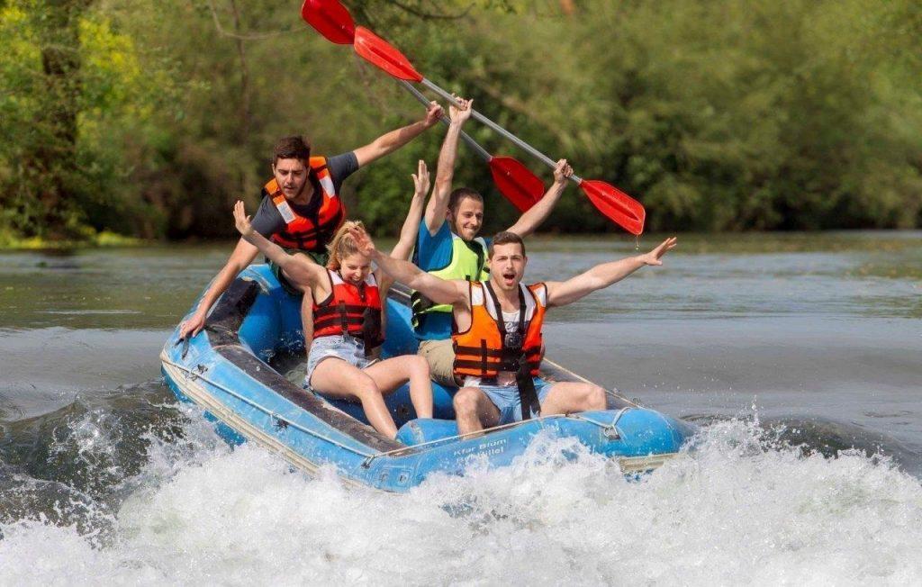 Water rafting in Kfar Blum. Photo by Yossi Aloni