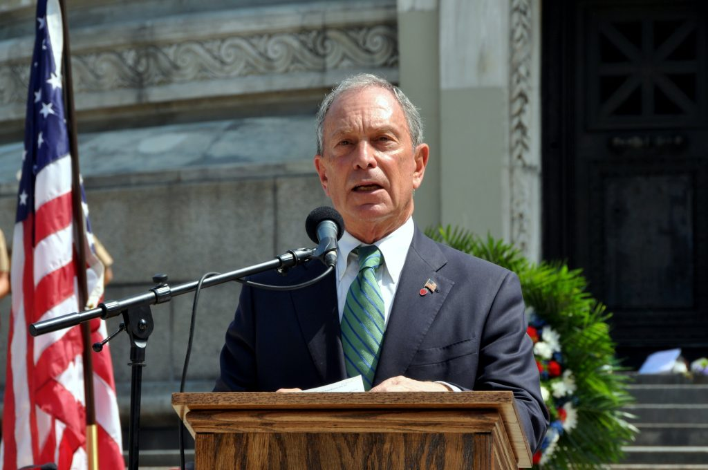 This file photo from 2012 shows then-New York City Mayor Michael Bloomberg.
