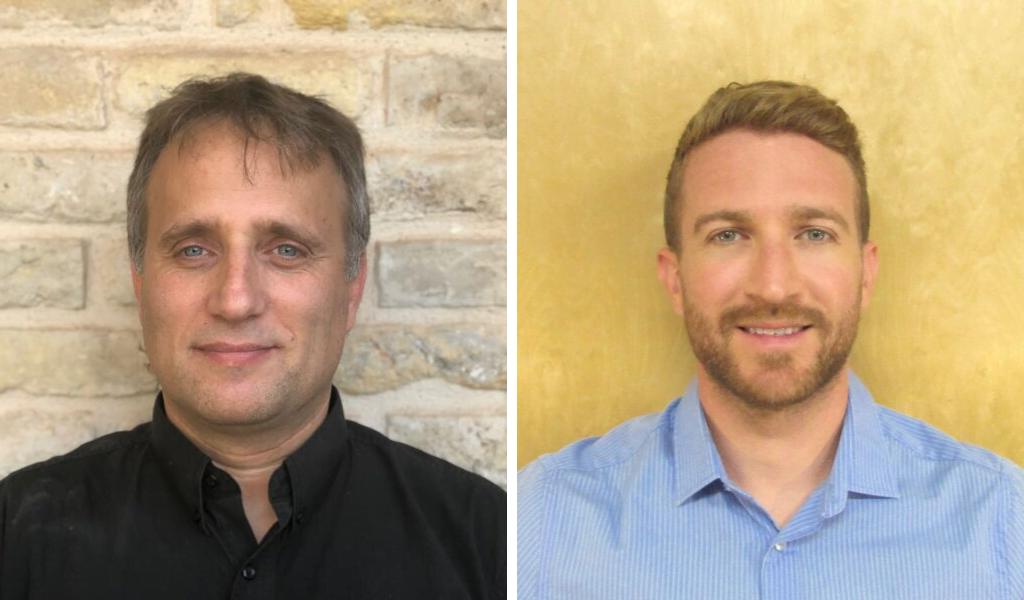 Dr. Liran Carmel, left, and Dr. David Gokhman, of the Hebrew University of Jerusalem. Courtesy