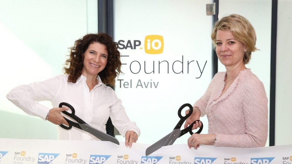 Alexa Gorman, right, head of SAP.iO Foundries EMEA and Orna Kleinmann, left, managing director at SAP Labs Israel and SVP Technology & Innovation Cloud Experience. Photo by Amir Levi