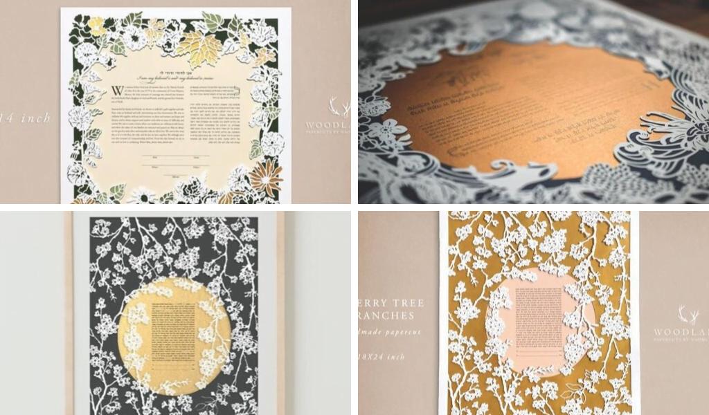 Woodland Papercuts designs by Naomi Shiek. Screenshots via Etsy