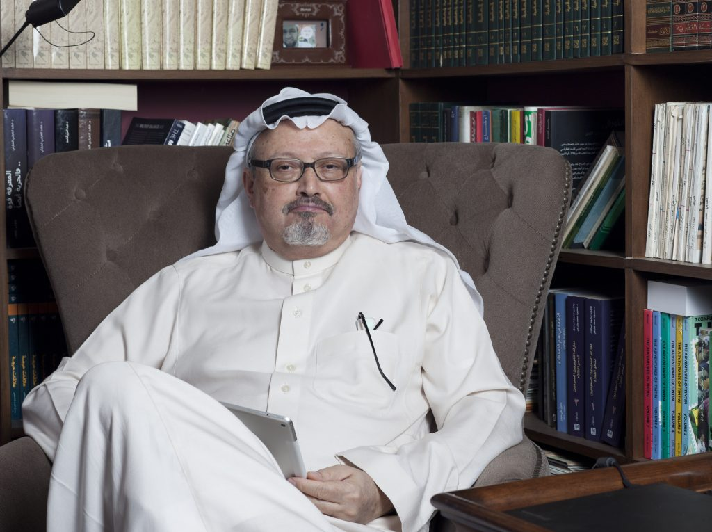 Portrait of Saudi journalist Jamal Khashoggi at his home in Jeddah, Saudi Arabia in 2016. Deposit Photos