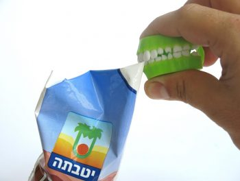 Chocolate milk opener. Courtesy of Shaul Cohen
