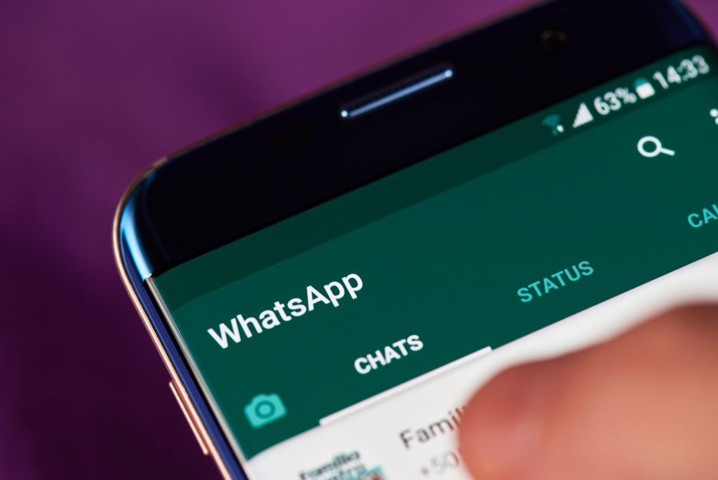 WhatsApp app on mobile. Deposit Photos
