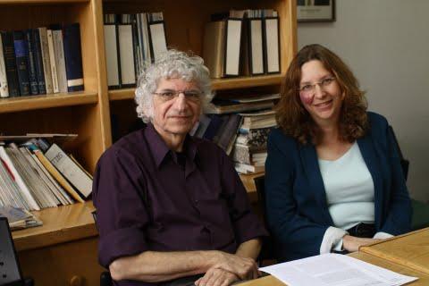 Prof. Zvi Livneh and Dr. Tamar Paz-Elizur of the Weizmann Institute. Courtesy