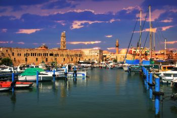 The marina in Acre, Israel. Deposit Photos
