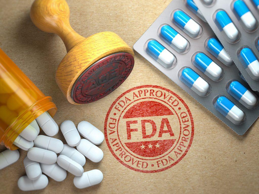An illustrative concept depicting FDA approval. Deposit Photos