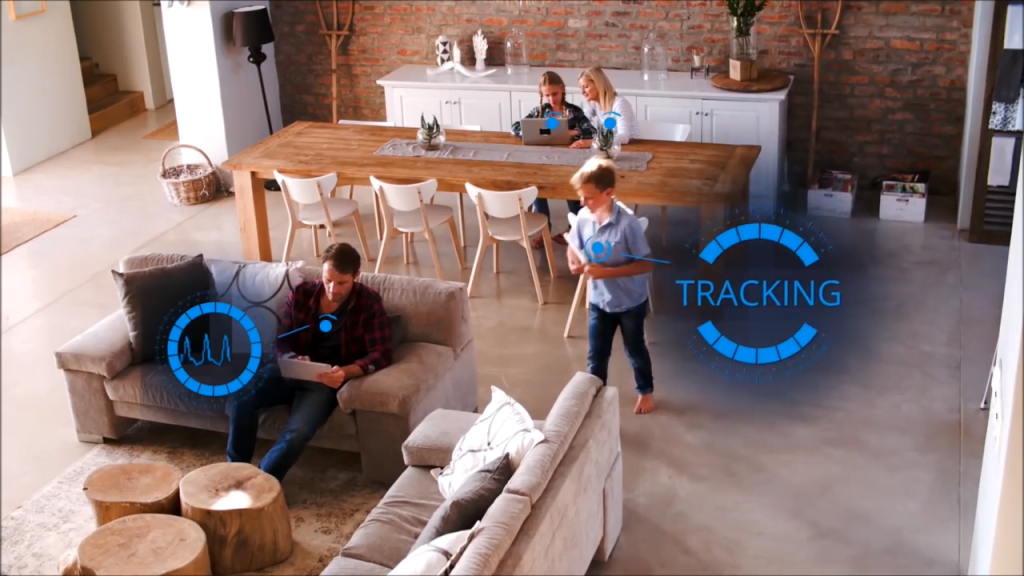 Vayyar's 4D image sensing tech in a smart home. Courtesy of Vayyar
