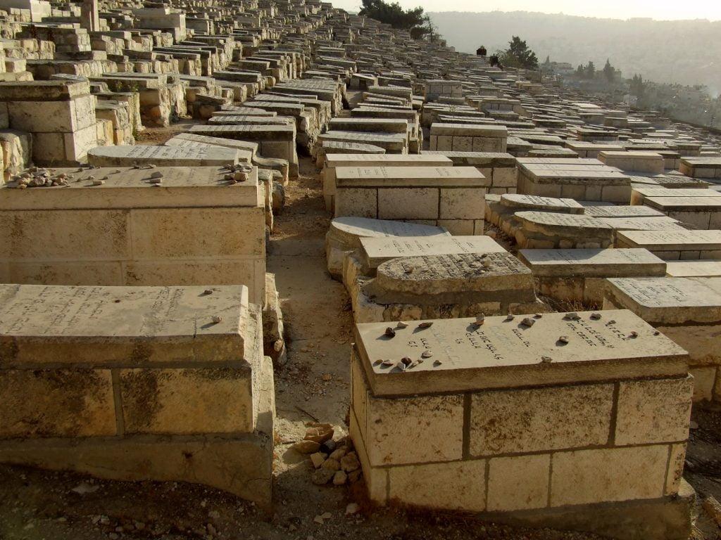 The Mount of Olives cemetery in Jerusalem. Illustrative. Deposit Photos