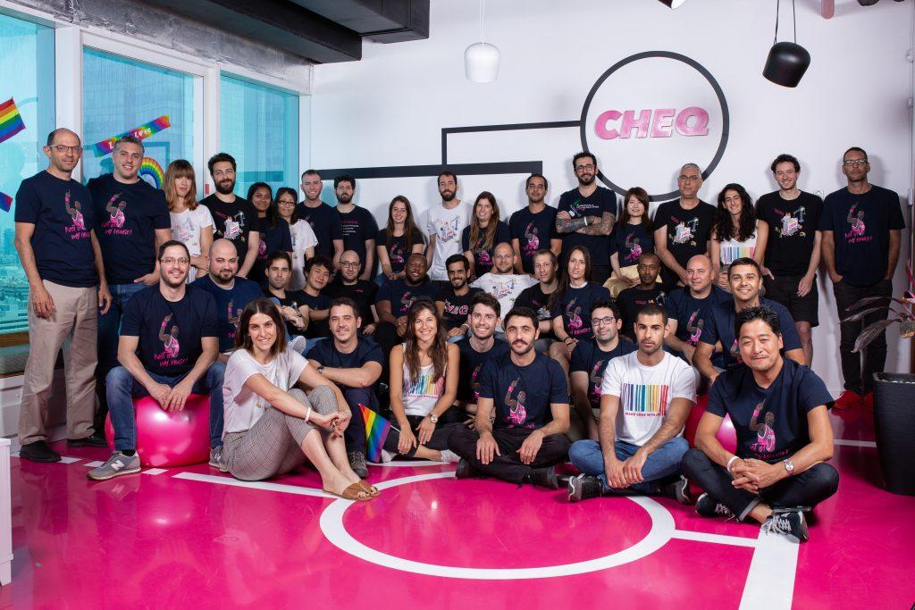 The Cheq team. Photo: Rami Sinai