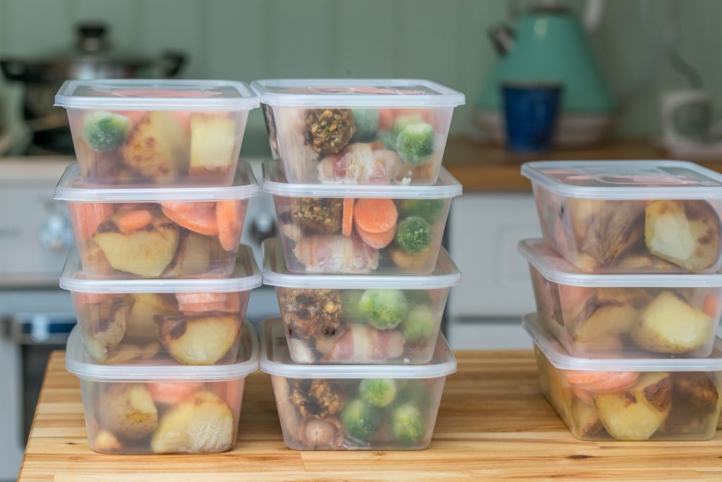 Meals in plastic containers. Deposit Photos