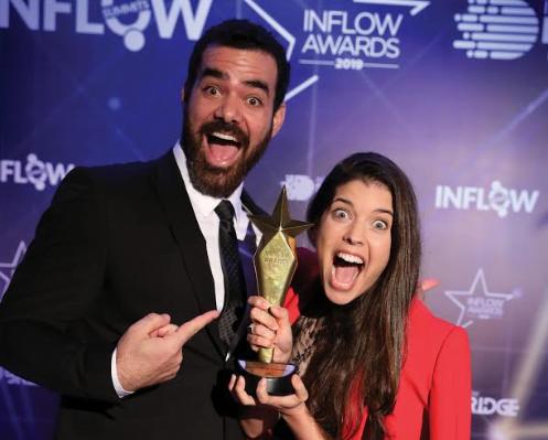 Yehuda and Maya Devir at the Inflow Awards in Istanbul, October 2019. Courtesy