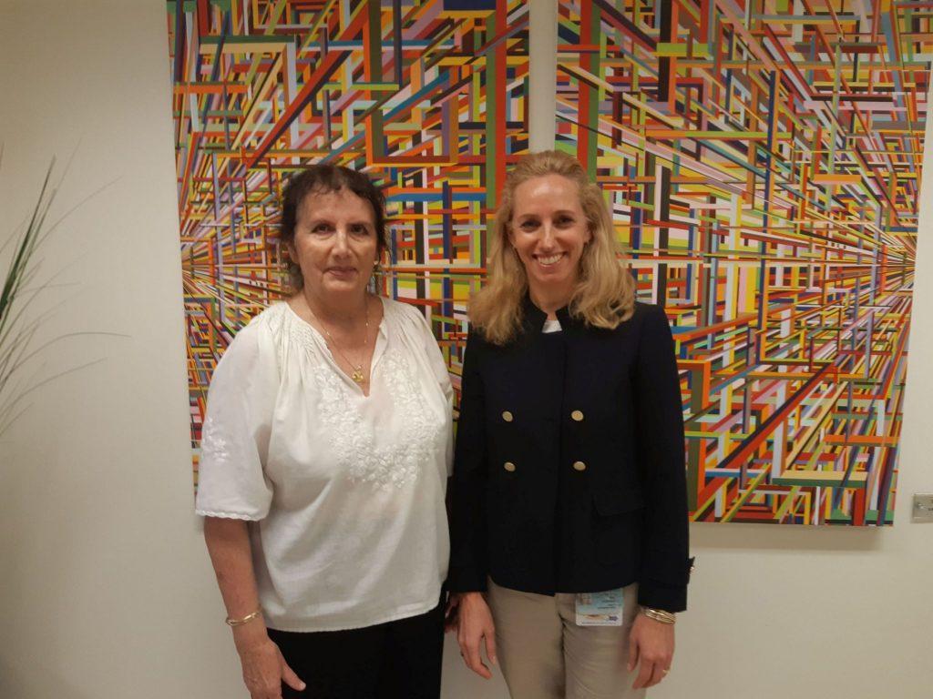 Professor Malka Cohen-Armon, left, of TAU's Sackler Faculty of Medicine, and Dr. Talia Golan, right, of the Sheba Medical Center. Courtesy