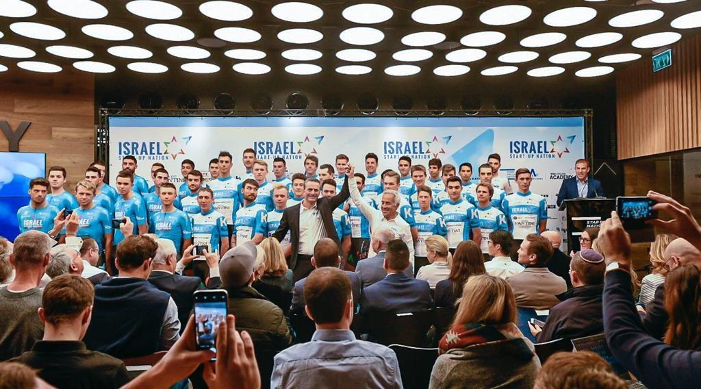 El equipo de Israel Start-Up Nation competirá en el Tour de Francia el próximo año.  Foto: Noa Arnon