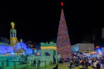 Christmas in Nazareth. December 2017. Deposit Photos