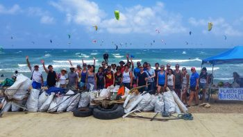 Plastic Free Israel beach cleanup. Courtesy