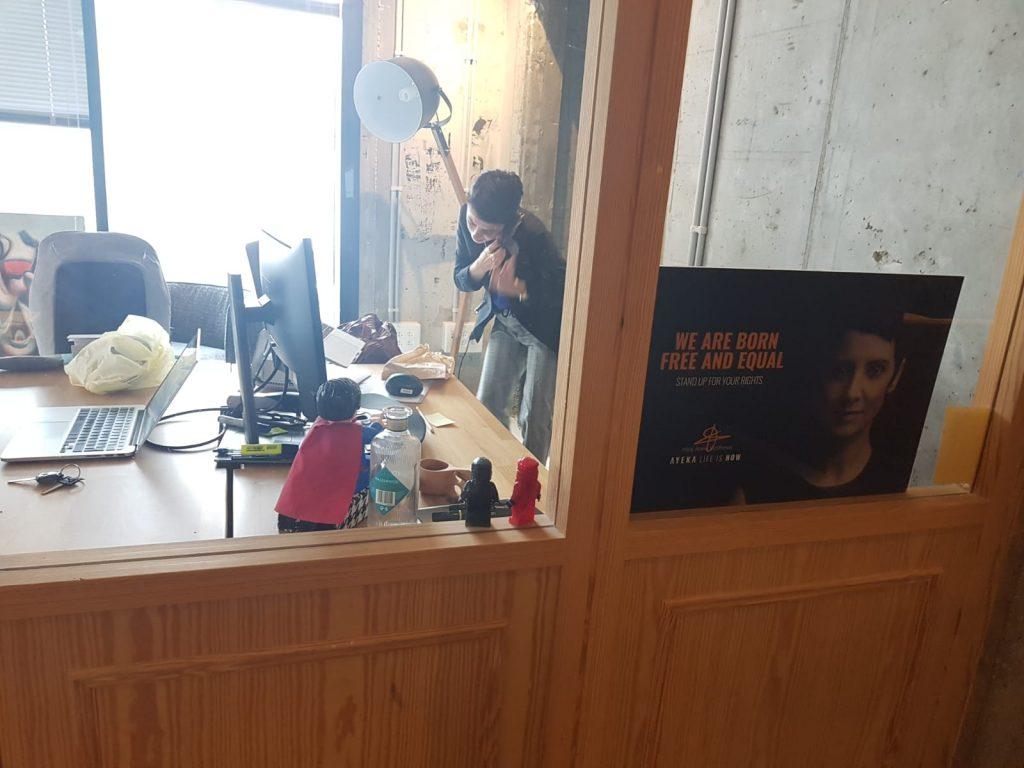 Inbal Arieli in her Tel Aviv office. Photo by NoCamels staff
