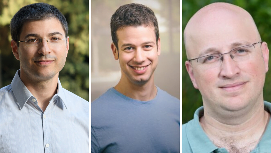 From left to right: Dr. Emmanuel Levy, Dr. Guy Rothblum, Dr. Igor Ulitsky. Photos from the Blavatnik Awards website