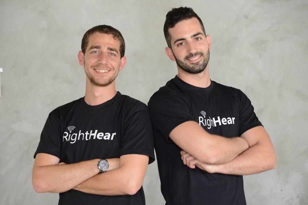 Les fondateurs de RightHear Idan Meir, à gauche, et Gil Elgraby. Courtoisie