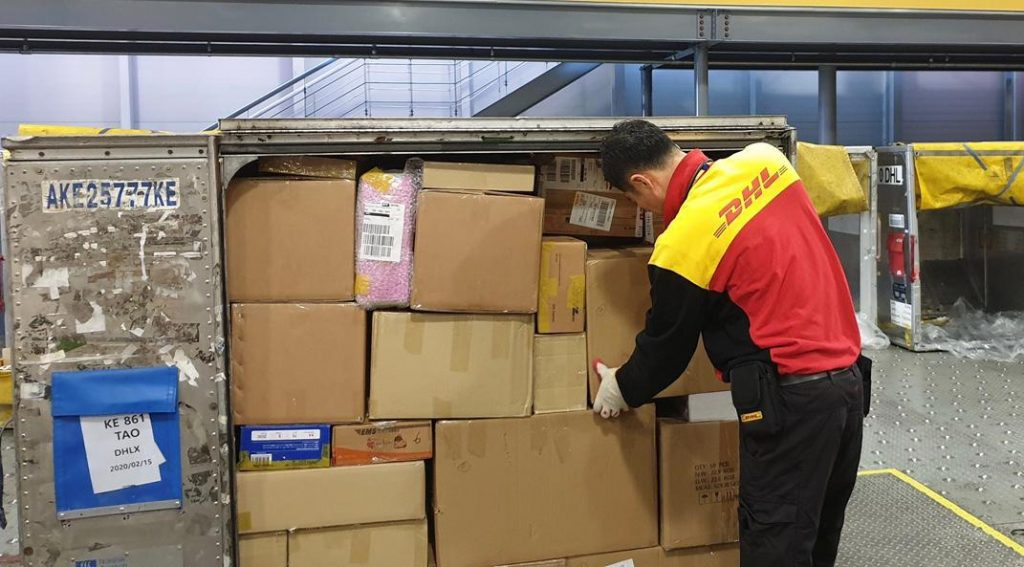 A shipment of medical supplies from Israel to China with DHL. Photo: SmartAID
