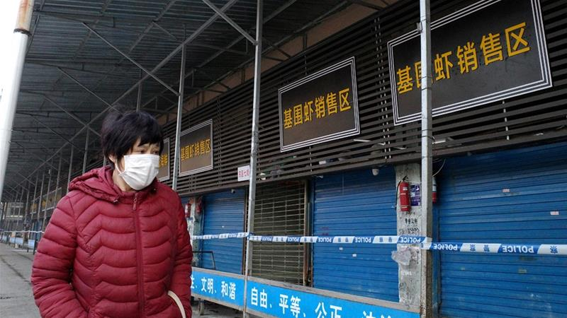 The Wuhan seafood market is closed after a novel strain of coronavirus was detected there for the first time, January 21, 2020. SISTEMA 12 [Wikimedia, CC BY-SA]