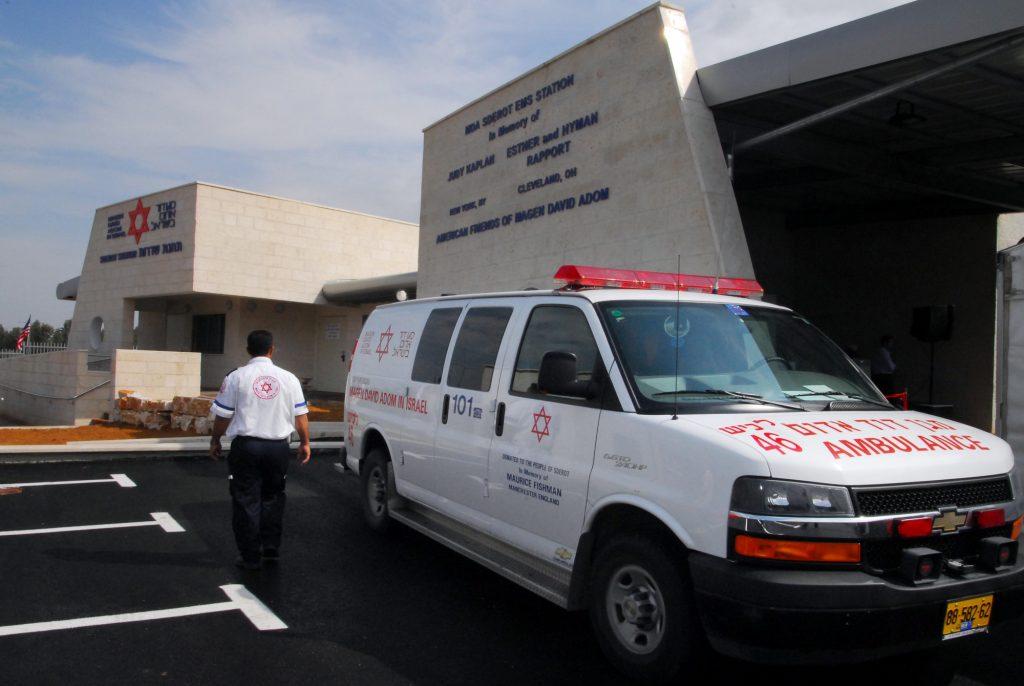 An illustrative photo of a Magen David Adom ambulance. Deposit Photos
